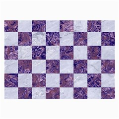 Square1 White Marble & Purple Marble Large Glasses Cloth by trendistuff