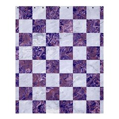 Square1 White Marble & Purple Marble Shower Curtain 60  X 72  (medium)  by trendistuff