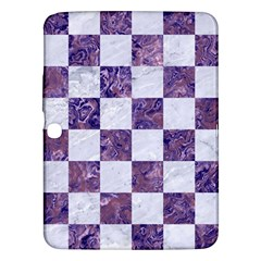 Square1 White Marble & Purple Marble Samsung Galaxy Tab 3 (10 1 ) P5200 Hardshell Case  by trendistuff