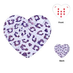 Skin5 White Marble & Purple Marble Playing Cards (heart)  by trendistuff