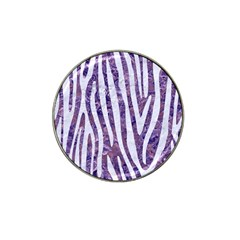 Skin4 White Marble & Purple Marble (r) Hat Clip Ball Marker (10 Pack) by trendistuff