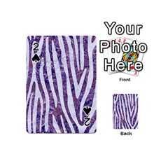 Skin4 White Marble & Purple Marble (r) Playing Cards 54 (mini)  by trendistuff
