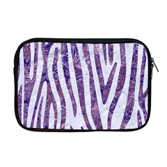 Skin4 White Marble & Purple Marble Apple Macbook Pro 17  Zipper Case by trendistuff