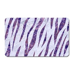 Skin3 White Marble & Purple Marble (r) Magnet (rectangular) by trendistuff