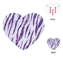 Skin3 White Marble & Purple Marble (r) Playing Cards (heart)  by trendistuff