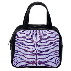Skin2 White Marble & Purple Marble (r) Classic Handbags (one Side) by trendistuff