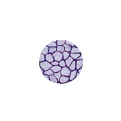 Skin1 White Marble & Purple Marble 1  Mini Magnets by trendistuff