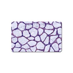 Skin1 White Marble & Purple Marble Magnet (name Card) by trendistuff