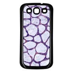 Skin1 White Marble & Purple Marble Samsung Galaxy S3 Back Case (black) by trendistuff