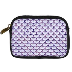 Scales3 White Marble & Purple Marble (r) Digital Camera Cases by trendistuff