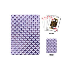 Scales3 White Marble & Purple Marble (r) Playing Cards (mini)  by trendistuff