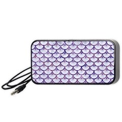 Scales3 White Marble & Purple Marble (r) Portable Speaker by trendistuff