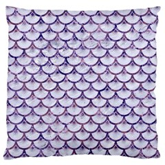 Scales3 White Marble & Purple Marble (r) Large Cushion Case (two Sides) by trendistuff