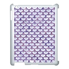 Scales3 White Marble & Purple Marble (r) Apple Ipad 3/4 Case (white) by trendistuff