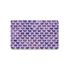 Scales3 White Marble & Purple Marble Magnet (name Card) by trendistuff