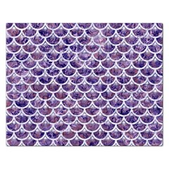 Scales3 White Marble & Purple Marble Rectangular Jigsaw Puzzl by trendistuff