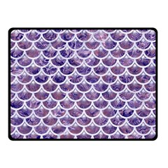 Scales3 White Marble & Purple Marble Fleece Blanket (small) by trendistuff
