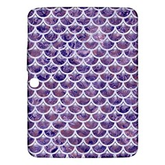 Scales3 White Marble & Purple Marble Samsung Galaxy Tab 3 (10 1 ) P5200 Hardshell Case