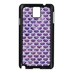 Scales3 White Marble & Purple Marble Samsung Galaxy Note 3 N9005 Case (black) by trendistuff