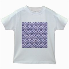 Scales2 White Marble & Purple Marble (r) Kids White T Shirts