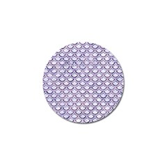 Scales2 White Marble & Purple Marble (r) Golf Ball Marker by trendistuff
