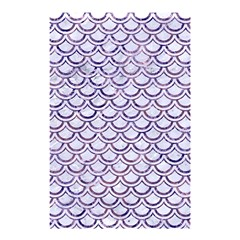 Scales2 White Marble & Purple Marble (r) Shower Curtain 48  X 72  (small)  by trendistuff