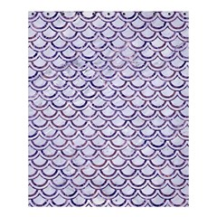 Scales2 White Marble & Purple Marble (r) Shower Curtain 60  X 72  (medium)  by trendistuff