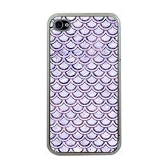 Scales2 White Marble & Purple Marble (r) Apple Iphone 4 Case (clear) by trendistuff
