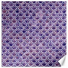 Scales2 White Marble & Purple Marble Canvas 12  X 12   by trendistuff