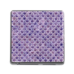 Scales2 White Marble & Purple Marble Memory Card Reader (square) by trendistuff