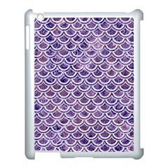 Scales2 White Marble & Purple Marble Apple Ipad 3/4 Case (white) by trendistuff