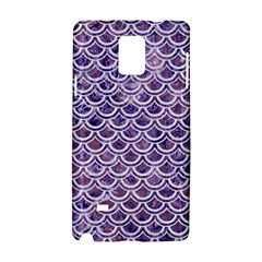Scales2 White Marble & Purple Marble Samsung Galaxy Note 4 Hardshell Case by trendistuff