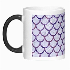 Scales1 White Marble & Purple Marble (r) Morph Mugs by trendistuff