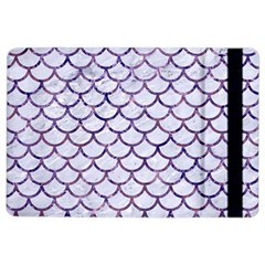 Scales1 White Marble & Purple Marble (r) Ipad Air 2 Flip by trendistuff