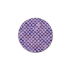 Scales1 White Marble & Purple Marble Golf Ball Marker (10 Pack) by trendistuff
