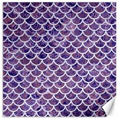 Scales1 White Marble & Purple Marble Canvas 12  X 12   by trendistuff