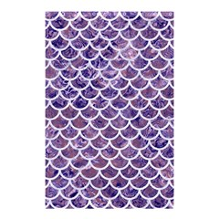 Scales1 White Marble & Purple Marble Shower Curtain 48  X 72  (small)  by trendistuff