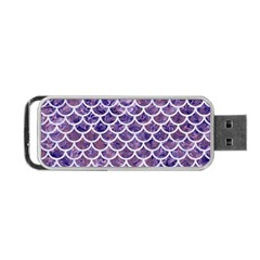Scales1 White Marble & Purple Marble Portable Usb Flash (one Side) by trendistuff