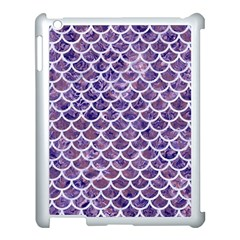 Scales1 White Marble & Purple Marble Apple Ipad 3/4 Case (white) by trendistuff