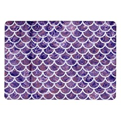 Scales1 White Marble & Purple Marble Samsung Galaxy Tab 10 1  P7500 Flip Case by trendistuff