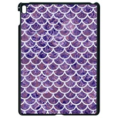 Scales1 White Marble & Purple Marble Apple Ipad Pro 9 7   Black Seamless Case by trendistuff