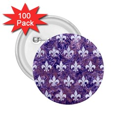 Royal1 White Marble & Purple Marble (r) 2 25  Buttons (100 Pack)  by trendistuff