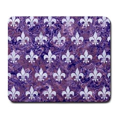 Royal1 White Marble & Purple Marble (r) Large Mousepads by trendistuff