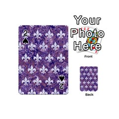 Royal1 White Marble & Purple Marble (r) Playing Cards 54 (mini)  by trendistuff