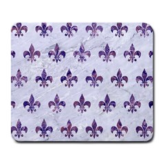 Royal1 White Marble & Purple Marble Large Mousepads by trendistuff
