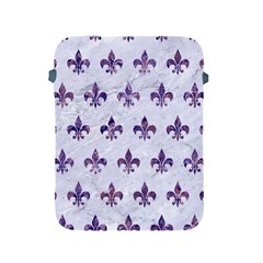 Royal1 White Marble & Purple Marble Apple Ipad 2/3/4 Protective Soft Cases by trendistuff
