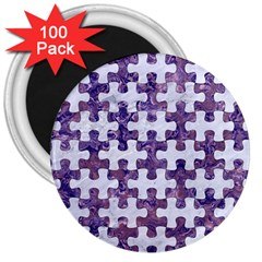 Puzzle1 White Marble & Purple Marble 3  Magnets (100 Pack)