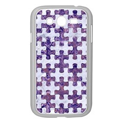 Puzzle1 White Marble & Purple Marble Samsung Galaxy Grand Duos I9082 Case (white) by trendistuff