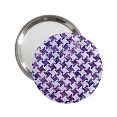 Houndstooth2 White Marble & Purple Marble 2 25  Handbag Mirrors by trendistuff