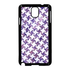 Houndstooth2 White Marble & Purple Marble Samsung Galaxy Note 3 Neo Hardshell Case (black) by trendistuff